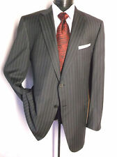 ERMENEGILDO Zegna Navy blue Strip Suit jacket size 44L 15 Mil 15