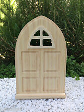 Mini FAIRY GARDEN Accessories ~ Paint Your Own Natural Wood Door w/ Window ~ NEW