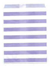 25 Pcs Light Purple Horizontal Stripes 5x7 Print Paper Gift Bag Favor Candy Shop