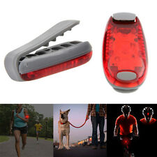 3 LEDs Clip On Light for Bike Rear Lamp Running Jogging Safety Warning+Battery