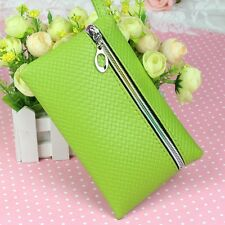 Women's PU Leather Purse Wallet Change Coin Bag Phone Key Case Makeup Wristlet