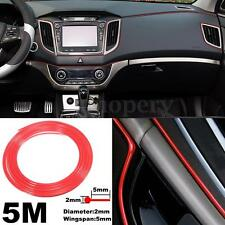 5M Red Moulding Trim Strip Car Door Edge Scratch Guard Protector Decorative Line