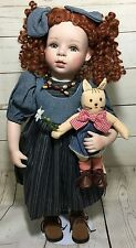 Kingstate The Dollcrafter Peasant Girl Redhead Auburn Hair Porcelain Cloth Doll