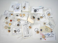 Vtg Lot of 27 St. John Replacement Buttons Various Sizes Colors Designs NWT Set2