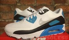 Nike Air Max 90 Ultra Essential UK7 EUR41 WHITE GREY LASER BLUE BLACK 819474 101