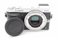 PANASONIC LUMIX DMC-GX7 16.0MP DIGITAL CAMERA SILVER BODY ONLY