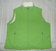 Women's L.L. Bean Green Nylon Polyester Zip Up Puffy Vest