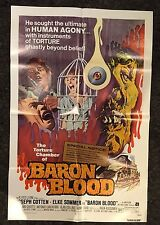 BARON BLOOD 1sh '72 Mario Bava, Cotton, Elke Sommer