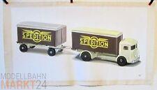Öl-Bild auf Leinwand Koffer-LKW SPEDITION Illustration von WIKING-Modellen 42x79