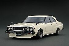 ignition model 1/43 Nissan Skyline 2000 GT-EL (C210) White Watanabe Wheel IG0318