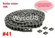 ROLLER CHAIN ASSEMBLY, #41, GO KARTS, SCOOTERS, 10 FT., 5 CONNECTING LINKS EXTRA
