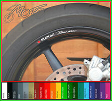 8 x SUZUKI BANDIT Wheel Rim Stickers Decals - gsf 1200 600 650 400 1250