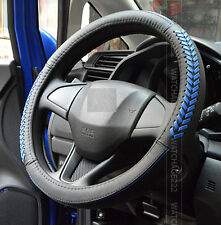 BLUE FIT FOR 2006-2013 HONDA CIVIC STEERING WHEEL GLOVE LEATHER COVER 2015 2014