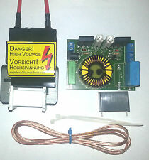 ZVS Driver with 15kV AC Flyback transformer Hochspannung HF trafo high voltage
