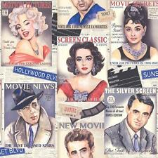 NEW RASCH MOVIE STAR CINEMA MOTIF MARILYN MONROE AUDREY HEPBURN WALLPAPER 239300