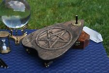 Automatic Writing Planchette, Engraved w/Brass Hardware, Ouija, Spirit Writing