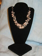 SIMPLY VERA WANG NWT $34 women's necklace cluster clear and champagne