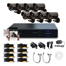 8CH AHD HDMI DVR Kit Home CCTV Security System 1300TVL Outdoor IR-CUT Camera Cam