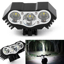 3 Cree T6 LED Mountain Bike Light Lamp Bicycle Cycle Torch Headlamp 3000LM