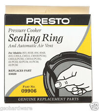 Presto Pressure Cooker Sealing Ring Gasket #9906 With Automatic Air Vent NEW!