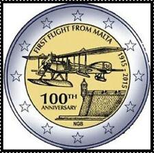 2 EURO  ***  Malte 2015 - 100 Ans Premier Vol / Eerste Vlucht   *** 2 EURO  !!!