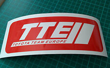 TTE Team Toyota Europe - Corolla, Yaris, Celica Vinyl Stickers x 2