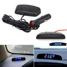 3in1 Car LED Digital Electronic Time Voltage Date Thermometer Voltmeter Meter