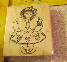 MISS FEBRUARY MW RUBBER STAMP-  DOTS
