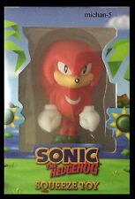 Knuckles the echidna figure toy stress ball sonic the hedgehog in BOX
