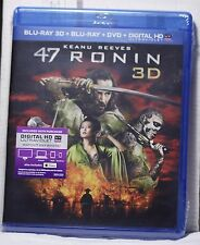 NEW 47 RONIN ON 3D BLU-RAY+2D BLU-RAY+DVD+HD ULTRAVIOLET! 3 DISC FACTORY SEALED