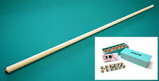 New Billiard Pool Cue Shaft 5/16x14 Fits Joss, Jacoby, With MOORI TIP INSTALLED