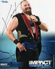TNA SIGNED KNUX BLUE IMPACT PROMO PHOTO WRESTLING COA THE MENAGERIE