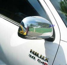 CHROME SIDE LH+RH MIRROR COVER TRIM TOYOTA HILUX VIGO SR5 MK6 PICK UP 2005-2014