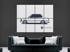 BMW 3 SERIES E21 CAR WHITE CLASSIC RETRO  IMAGE ART LARGE WALL  POSTER  PRINT