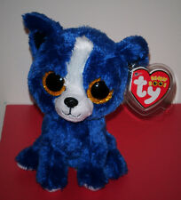 """Ty Beanie Boos T-BONE the 6"""" Dog ~ Show Exclusive~ NEW ~ MINT with TAG PROTECTOR"""