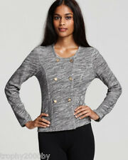 NEW JUICY COUTURE TWISTED SLUB JERSEY DOUBLE BREASTED JACKET SZ S SMALL