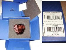 "$175 Swarovski Crystal large Love Heart 2.5"" 5069537 2-tone Kakadu Red BNIB"