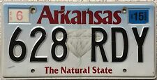 FREE UK POSTAGE Arkansas Natural State Diamond USA License Number Plate 628 RDY