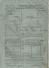 Ducato di Lucca 1842 Intimazione di Pagamento al Marchese Cesare Boccella 1842