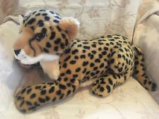 "Aurora 16"" Leopard Cheetah Cat Plush Animal Stuffed Kitty"