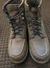 Skechers Shoes Max Dark Brown Leather Upper Ankle Men Size Logger Boots Medium