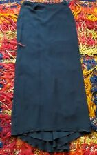 SALE  (Orig. 1050)  Carolina Herrera Long Black Silk Skirt with Fishtail, 10