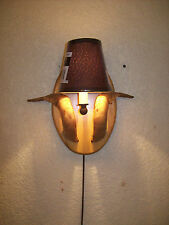 SHEEP/GOAT/RAM HORN/ANTLER/SHED WALL SCONCE LIGHT/LAMP/LIGHTS/LAMPS & SHADE #A14