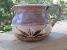 Hand Spun~Pottery~Creamer~Unknown Artist~Applied Handle