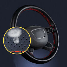 1* Auto Car SUV 38cm DIY Art Leather Steering Wheel Cover & Needle Thread yu