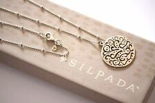 "Silpada ""Cut Above"" Filigree Sterling Silver Cut Out Necklace N2328"