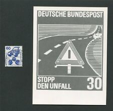 BUND FOTO-ESSAY 701 DAUERSERIE UNFALL 1971 PHOTO-ESSAY PROOF RARE!! e22