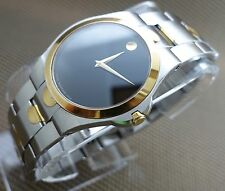 MOVADO LUNO CLASSIC 2TONE 14K GOLD.P/S.S  MODEL#0605635 MEN'S WATCH,RETAIL$1295