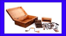 Antique Wooden Suitcase with a Complete Set of Antique Carpentry Tools. 1930