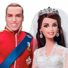 NIB!! MATTEL BARBIE DOLL GOLD LABEL WILLIAM & CATHERINE ROYAL WEDDING GIFT W3420